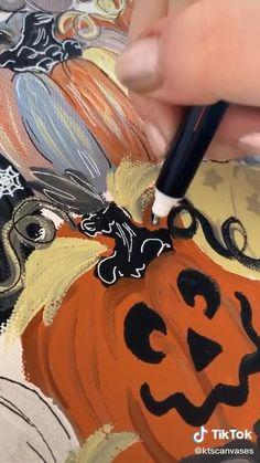 Art Drawings Sketches Simple, Realistic Drawings, Mini Canvas Art, Autumn Art, Tempera, Gouache, Art Tutorials, Painting Inspiration, Cute Art