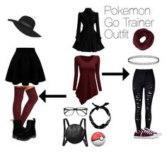 """""""My Pokemon Trainer Go Outfit Cosplay"""" by shaeyanafay ❤ liked on Polyvore featuring Charlotte Russe, Monki, Converse, Topshop, New Look, Dr. Martens and BCBGMAXAZRIA"""