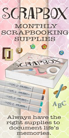 Monthly Scrapbooking Supplies from the best brands delivered right to your door! Always have right papers, embellishments, cutting tools, and more to documents life's memories. Use Coupon Code PINTEREST2015 to save 10%. Coupon expires 10/31/2015.