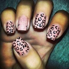 Pink cheetah nails | See more nail designs at http://www.nailsss.com/nail-styles-2014/2/