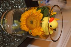 Rubber Ducky Centerpiece for baby shower