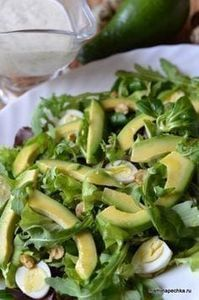 салат с авокадо - The world's most private search engine Top Salad Recipe, Salad Recipes, Diet Recipes, Cooking Recipes, Healthy Recipes, Vegetarian Recepies, Good Food, Yummy Food, Appetizer Salads