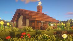 Minecraft Log Cabin, Minecraft Small House, Minecraft House Plans, Minecraft Farm, Minecraft Cottage, Cute Minecraft Houses, Minecraft House Designs, Minecraft Blueprints, Minecraft Projects