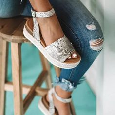 US$ 24.23 - Casual Pu Spring/fall Sandals - www.joymanmall.com Taupe Sandals, Wedge Sandals, Strap Heels, Ankle Strap, Espadrilles, Up Shoes, Shoes Jordans, Open Toe High Heels, Fashion Shoes