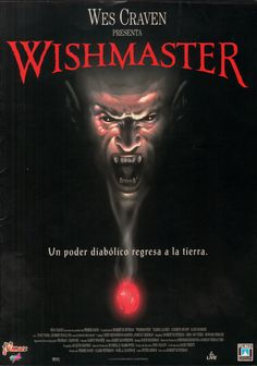1997 - Wishmaster All Movies, Scary Movies, Great Movies, I Movie, Horror Movie Posters, Horror Films, Horror Art, Zombie Movies, Halloween Movies