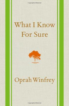 Got this as a gift and it's very good so far. I would recommend it! What I Know For Sure - Oprah Winfrey