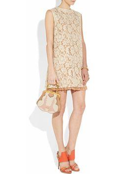 Miu Miu Floral lace A-line dress NET-A-PORTER.COM