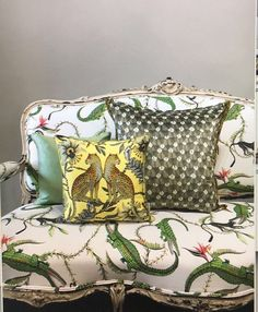 Upholstery Fabric, South African Design, Oriental Interior, Ardmore, Entryway Decor, Upholstered Furniture, Tropical Decor, Eclectic Furniture, Velvet Cushions