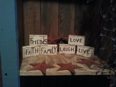 """SET OF THREE BLOCKS APPROX. 4""""X2.5""""X1"""" YOUR CHOICE OF WORDS. $5.00"""
