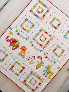 circus themed baby quilt Baby quilt crib size quilt primary colors circus theme