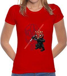 LaTostadora Camiseta Darth Maul - Camiseta mujer corte clásico Rojo Talla M #camiseta #realidadaumentada #ideas #regalo