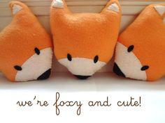 Orange Fox Plush, Fox doll, Fox Stuffed Toy, Animal, Mini Pillow. $9.99, via Etsy.