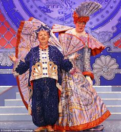 All-star cast: Jo Brand as the Genie of the Ring and Matthew Kelly as Widow Twankey in the show