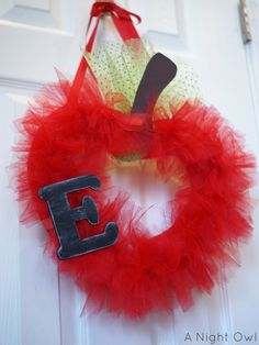 hmmmm how about a baby shower tulle wreath?