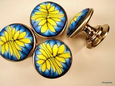 Handmade Cabinet Knobs/ Pulls  Metal / Polymer Clay by gloryworks, $59.00