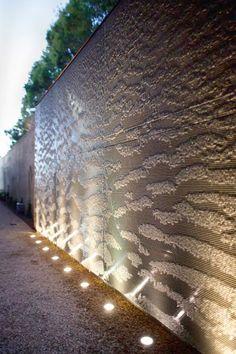 Los Angeles Residence Landscape Elements, Landscape Walls, Landscape Lighting, Landscape Architecture, Landscape Design, Facade Lighting, Exterior Lighting, Wall Lighting, Modern Landscaping