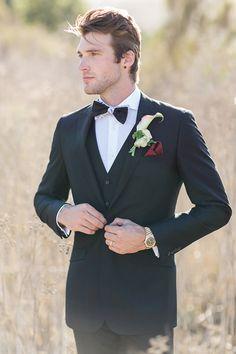 Formal Black Tie Groom | Carlie Statsky Photography | Luxe Bohemian Wedding in Jewel Tones