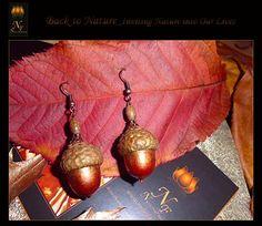 Earrings _Natural Acorns