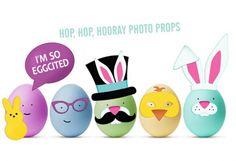 Hop Hop Hooray Photo Props to decorate eggs!