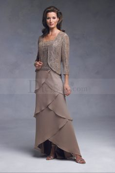 Mature, Two piece, Sheath Mother of the Bride Dress, Quality Unique Mother of the Bride Dresses Mob Dresses, Bridesmaid Dresses, Wedding Dresses, Bride Dresses, Beautiful Gowns, Beautiful Outfits, Mothers Dresses, Groom Dress, Mother Of The Bride