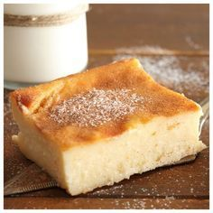 Greek Milk Pie (no pastry) Greek Sweets, Greek Desserts, Greek Recipes, Pie Recipes, Dessert Recipes, Milk Pie Recipe, Cyprus Food, Greek Cookies, Custard Cake