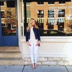 Into the White: Blogger Renee Hall keeping it casual in her J BRANDs.