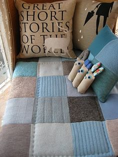 LOVE the patchwork blanket
