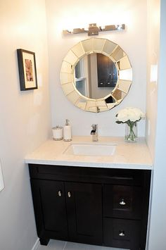 gorgeous guest bathroom before/after.