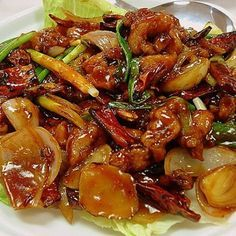 Kung Pao Chicken, Wok, Chicken Recipes, Food And Drink, Beef, Ethnic Recipes, Meat, Steak