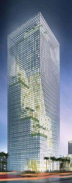 Al-Birr Foundation Headquarters, Riyadh, Saudi Arabia designed by Perkins + Will Architects :: 28 floors, height 124m :: proposal
