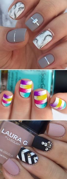 We have a great photo gallery that presents you pretty nail designs. Look through our ideas and pick a design for your next visit to a beauty salon.