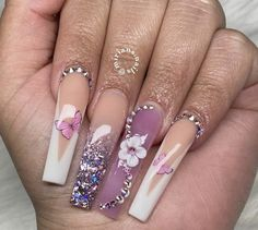 Perfect Nails, Gorgeous Nails, Pretty Nails, Bling Acrylic Nails, Best Acrylic Nails, Cute Acrylic Nail Designs, Beautiful Nail Designs, Fire Nails, Nail Accessories