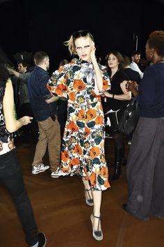 Dries Van Noten Fashion Show Backstage, more photos here http://sonnyphotos.com/2014/02/dries-van-noten-aw14-15-fashion-show-paris-backstage