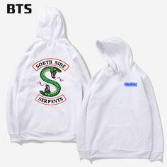 White hoodie mens-Fashion High Quality 100% Cotton Hooded Customized Riverdale South Side Serpents Tracksuit Women Long-sleeved Pullovers Hoodies