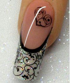 New wedding nails french glitter navy blue ideas - nailart Pretty Nail Art, Beautiful Nail Art, Cool Nail Art, Fancy Nails, Cute Nails, My Nails, Salon Nails, Fabulous Nails, Gorgeous Nails