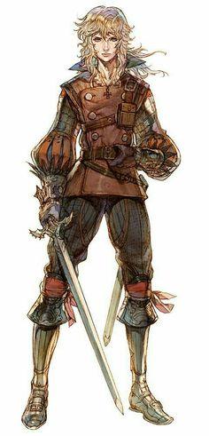Half-Elf Rogue - Pathfinder PFRPG DND D&D d20 fantasy