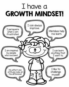 I have a growth mindset.                                                                                                                                                                                 More                                                                                                                                                                                 More Mbti, Growth Mindset Kids, Growth Mindset Quotes, Growth Mindset Display, Mindset Quotes Positive, Positive Affirmations For Kids, Growth Mindset Activities, Positive Self Talk, Positive Thoughts