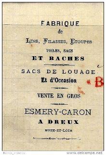 """La fabrique de sacs et bâches """"Esmery-Caron"""" à Dreux"""