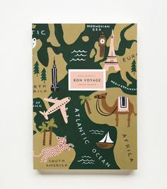 Bon Voyage Journal #luvocracy #graphicdesign #illustration #maps #journal #travel