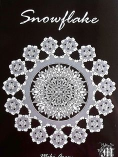 """Snowflake"" design by Miki Green for parchment paper (book);  ""Parchment Craft, also known as Pergamano, is the art of embellishing and decorating parchment paper (or vellum paper) through the use of techniques such as: embossing, perforating, stippling, cutting and coloring.""  - Wikipedia"