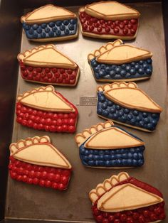 Pie sugar cookies for the 4th of July