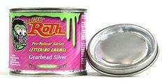 Gearhead Silver lil daddy roth pinstriping paint enamel hot rod sign lettering #lildaddyroth