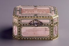 Music Box. Fabergé - RUSSIA: Saint Petersburg. 1907. Gold, enamel, diamonds, rubies