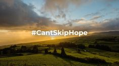 It's time to stop.  Time to reset, time to recenter, time to switch off so we can move on.  The best part of it all? We are in this together. #CantSkipHope
