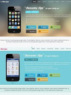 Mobile App Responsive Website theme. Bootstrap Themes. $6.00