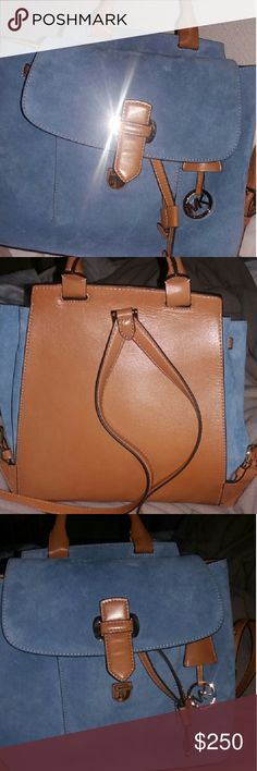 8b6860865d3b3 Michael kors back pack NWT suede and leather( yes it s authentic) Michael  Kors Bags