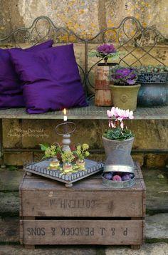 Beautiful.  Love the splash of purple in the rustic setting.