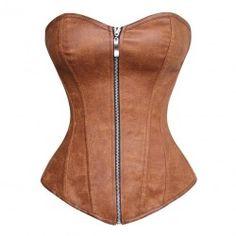 Le corset marron cuir vieilli