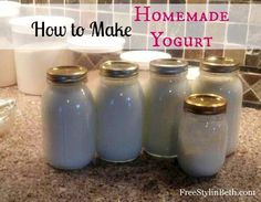 How to Make Homemade Yogurt at FreeStylinBeth.com. Only two ingredients!!