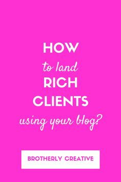land high paying writing clients using your blog